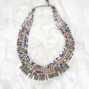 Zad Multicolor Beaded Statement Necklace